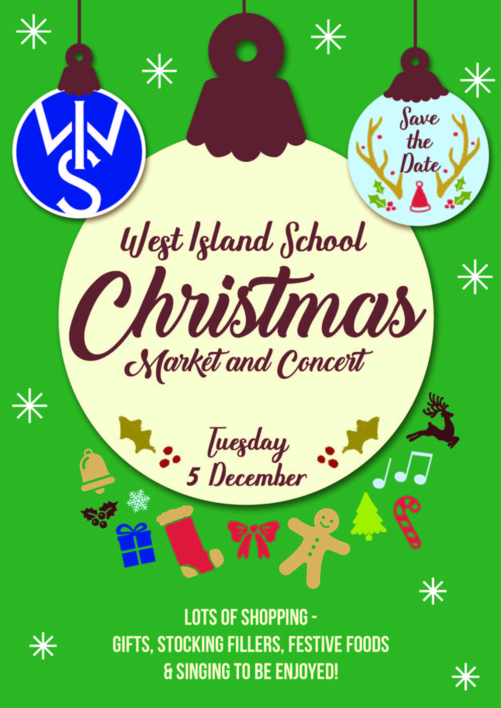 Christmas Save The Date Clipart.West Island School Esf Save The Date Wis Christmas Market